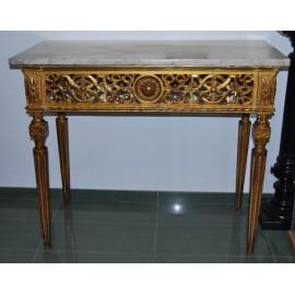 Consola dorada del siglo XVIII