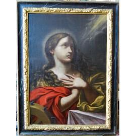 Extasis de Santa Catalina , óleo sobre lienzo siglo XVII
