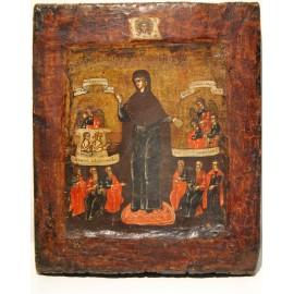 Icona rusa del siglo XVIII, Virgen