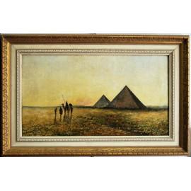 Pintura orientalista, firmada y fechada 96 (1896).