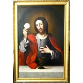 """""""Cristo Eucaristico"""", olio su tela della fine del XVIII secolo."""