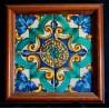 Conjunto de 4 azulejos catalanes del siglo XVIII