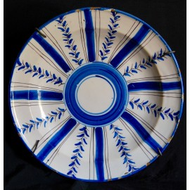Plato cerámica del siglo XIX, Manises (Valencia).