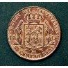 Spanish Isabeline coin of 25 cents of the year 1863