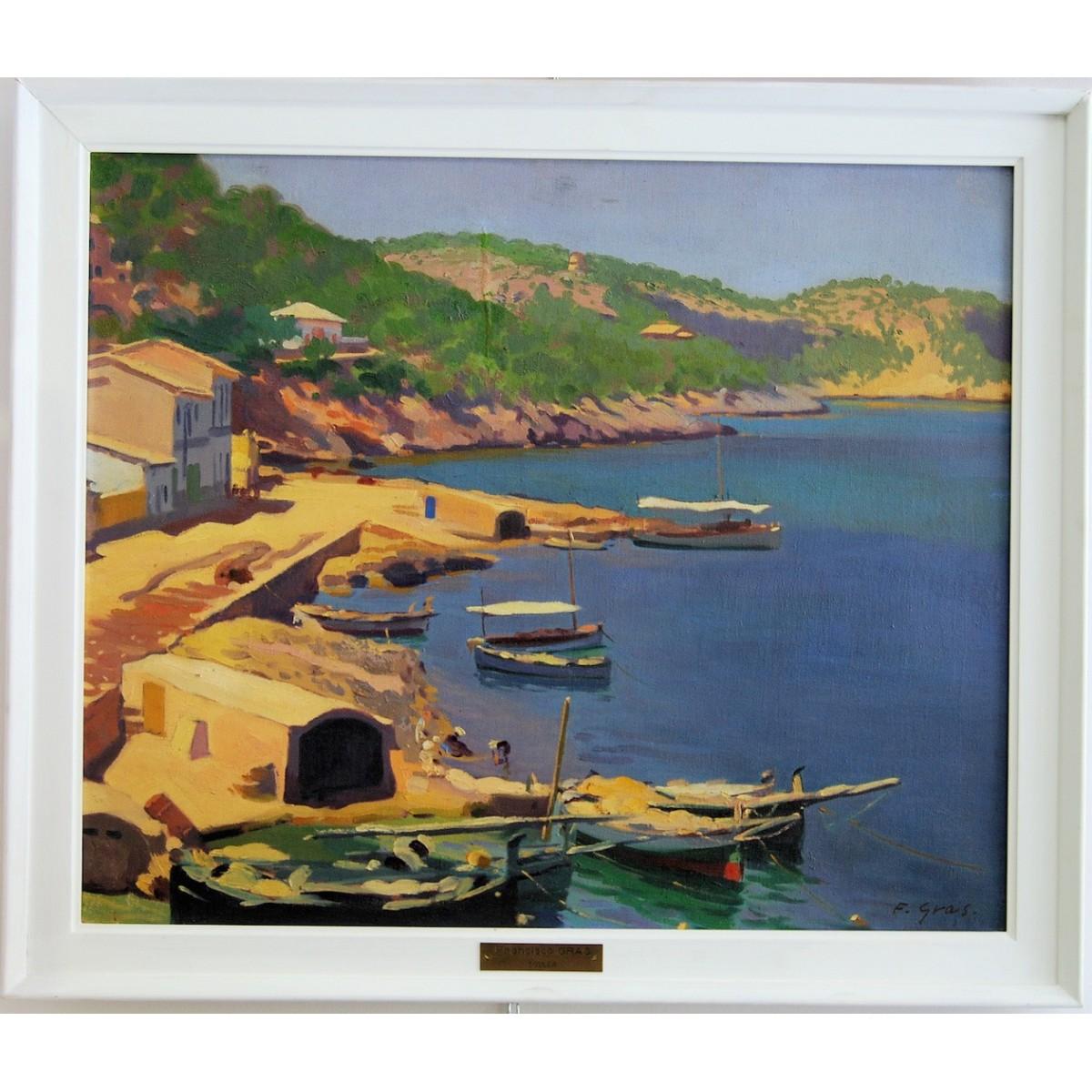 Francisco Gras (Valencia 1897 - 1941), Puerto Sóller (Mallorca), oleo sobre lienzo.
