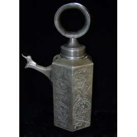 Pewter water pitcher, final 19th century.