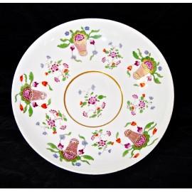 Plato de taza, porcelana Meissen.