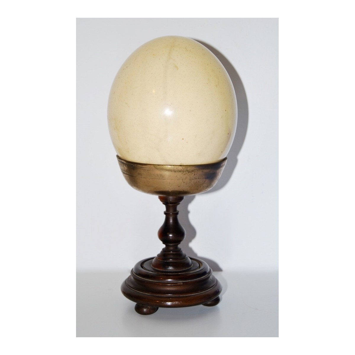 Chalice with ostrich egg, 19th century.