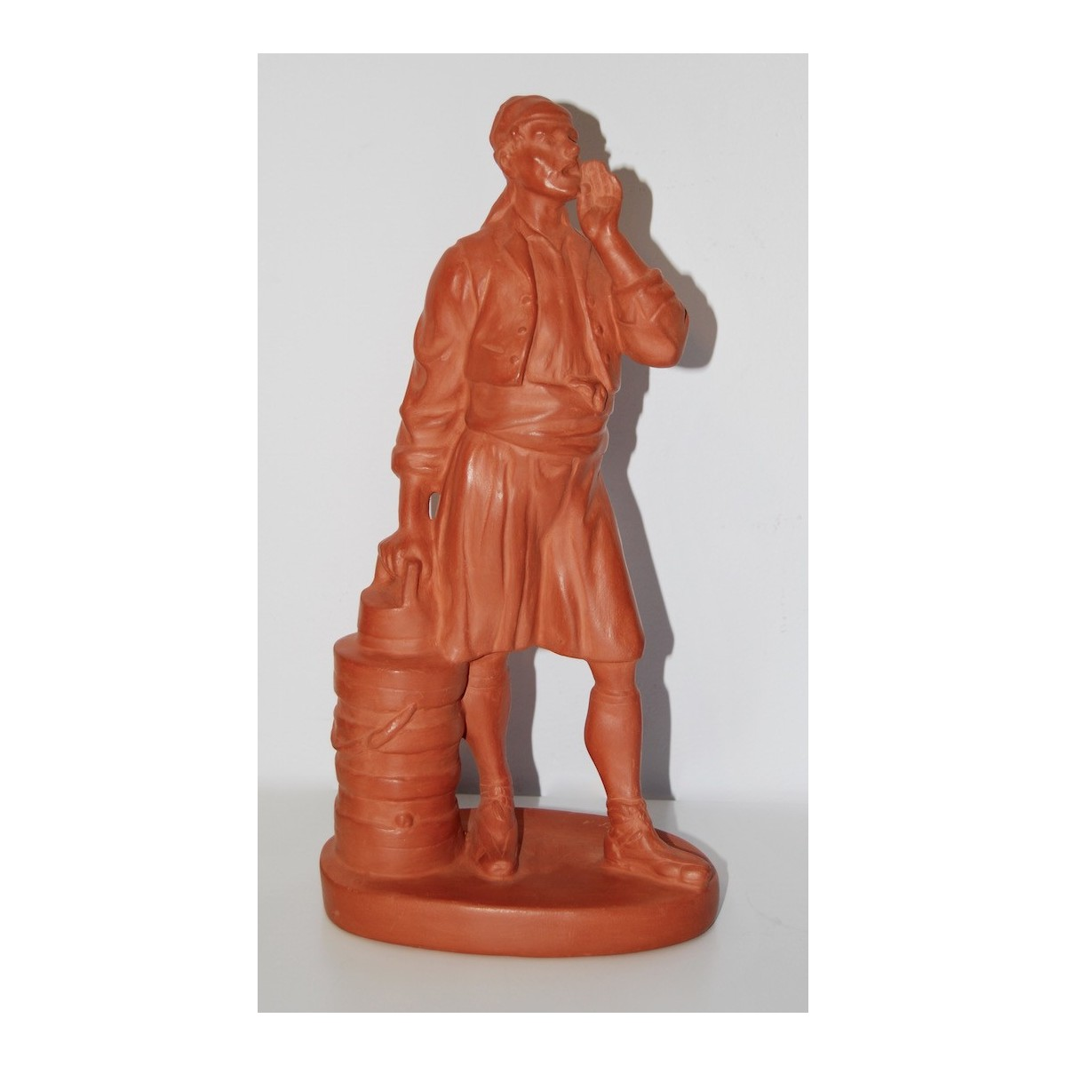 Luis Bolinches, terracotta sculpture