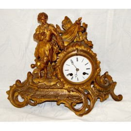 Table clock, French, 19th.