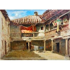 Gonzalo Salvá y Simbor, patio interior, siglo XIX.