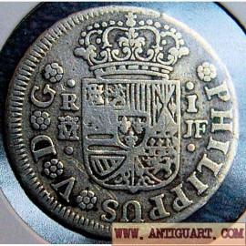 1 real Felipe V, 1738.