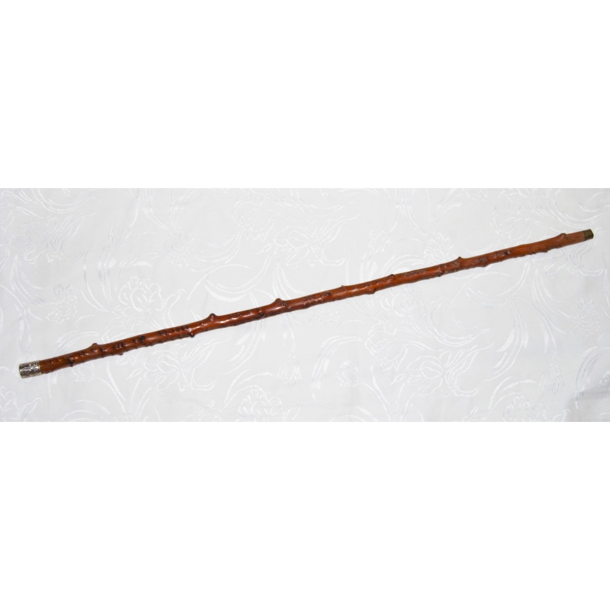 rosewood walking stick, 19th