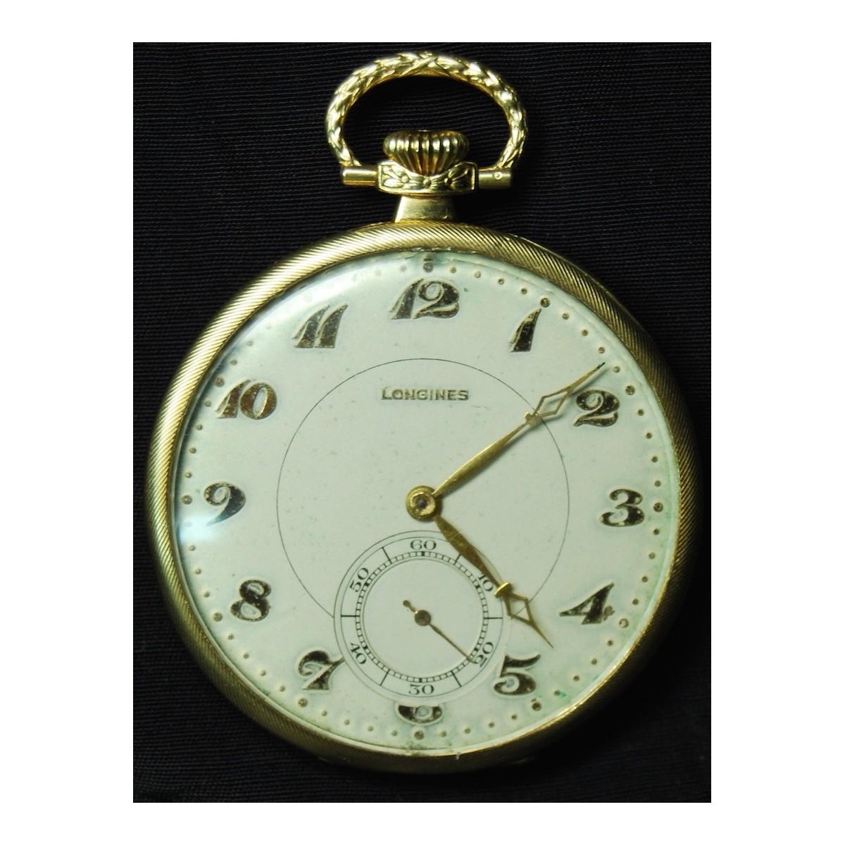 Longines, reloj de bolsillo de oro 18K