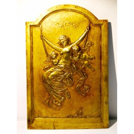 Bronze bas-relief, art nouveau, early 20th
