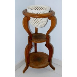 Walnut jardiniere plant stand, 19th.