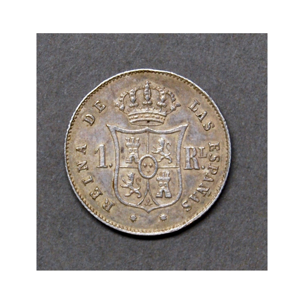 1 real of silver 1853, mint of Barcelona