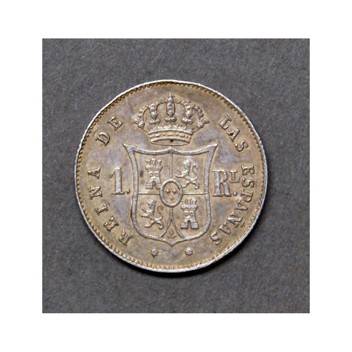 1 real de plata 1853, ceca de Barcelona