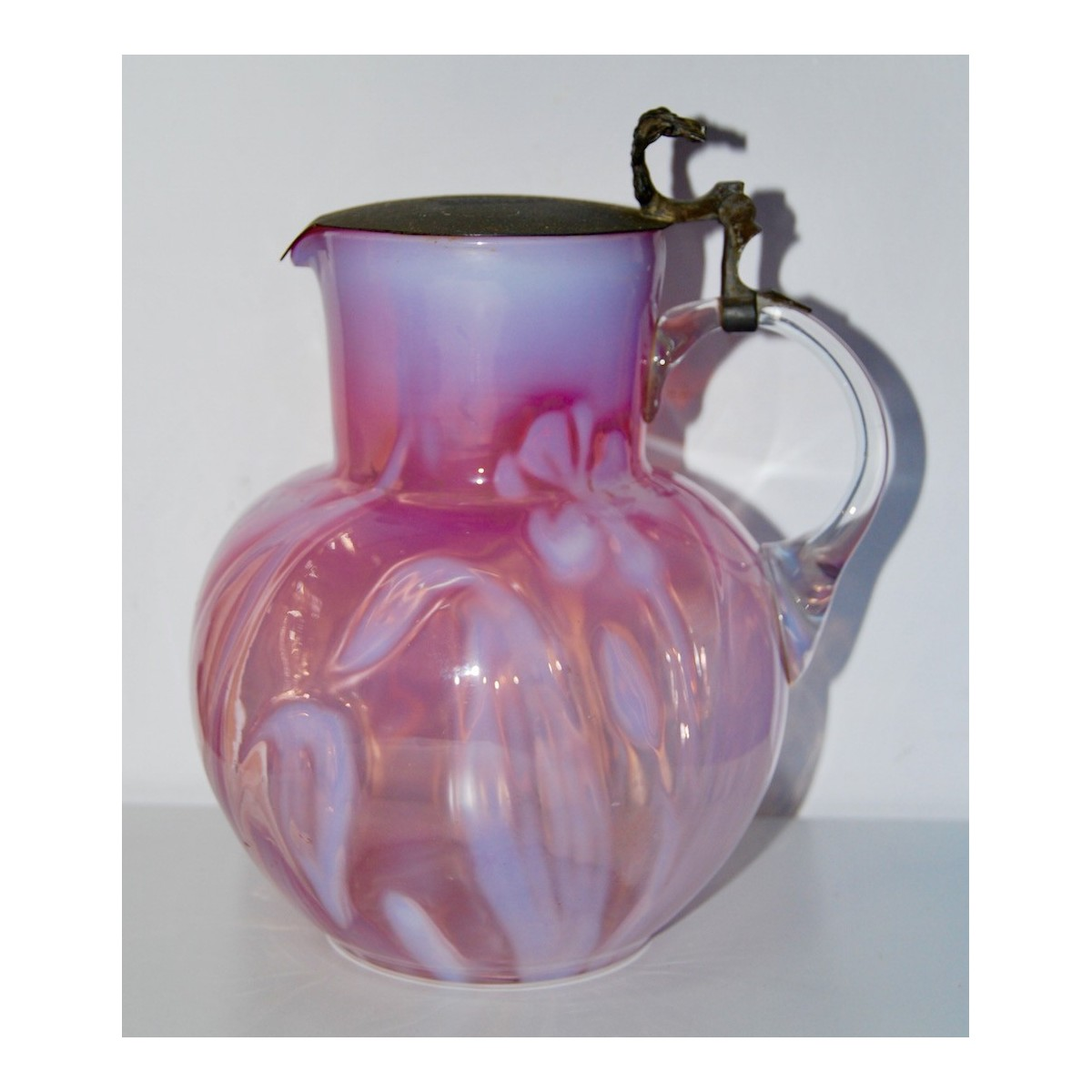 Blown glass jug of the early 20th