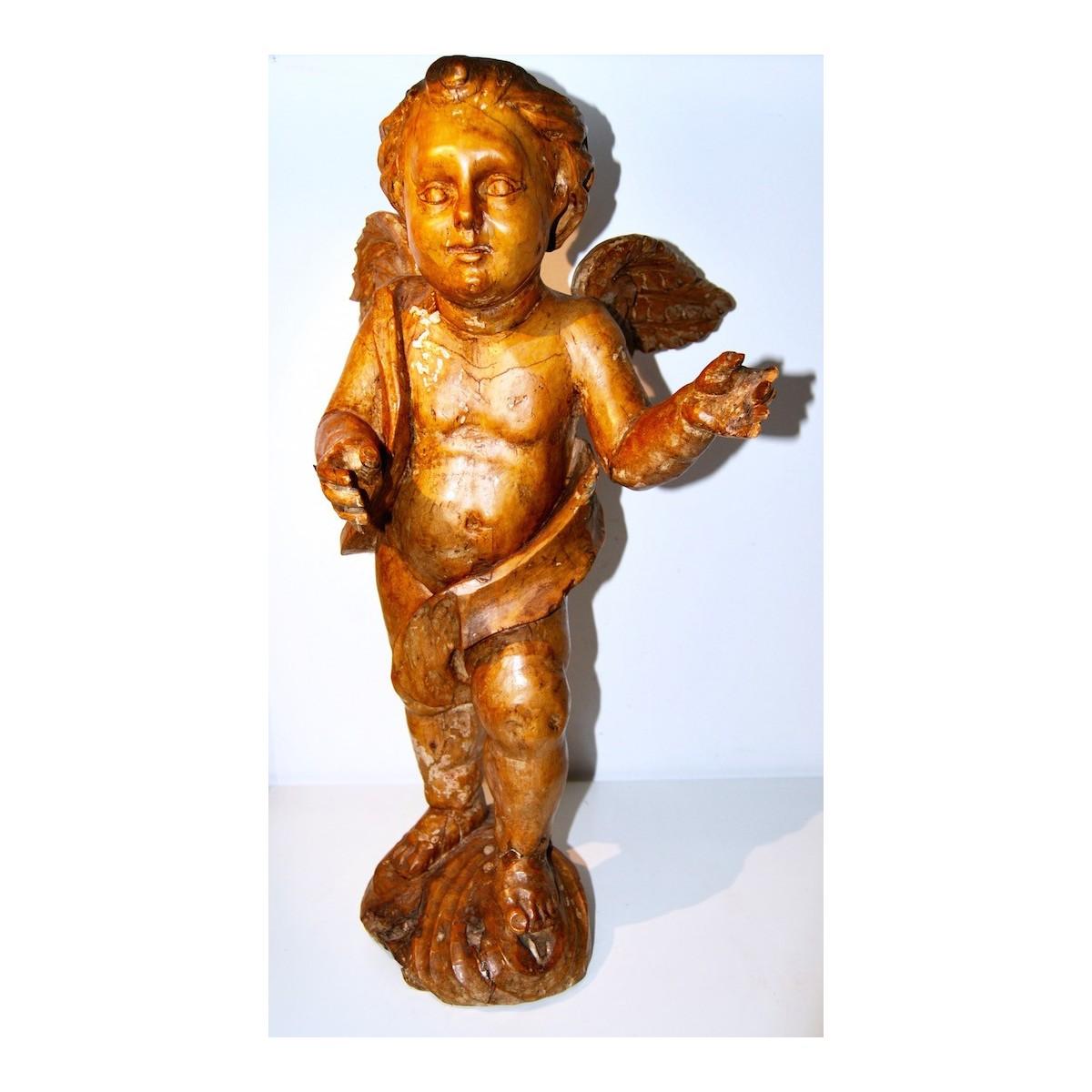 """"""" Angel """", talla de finales del siglo XVII"""