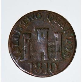 Two quartos coin 1810 Gibraltar
