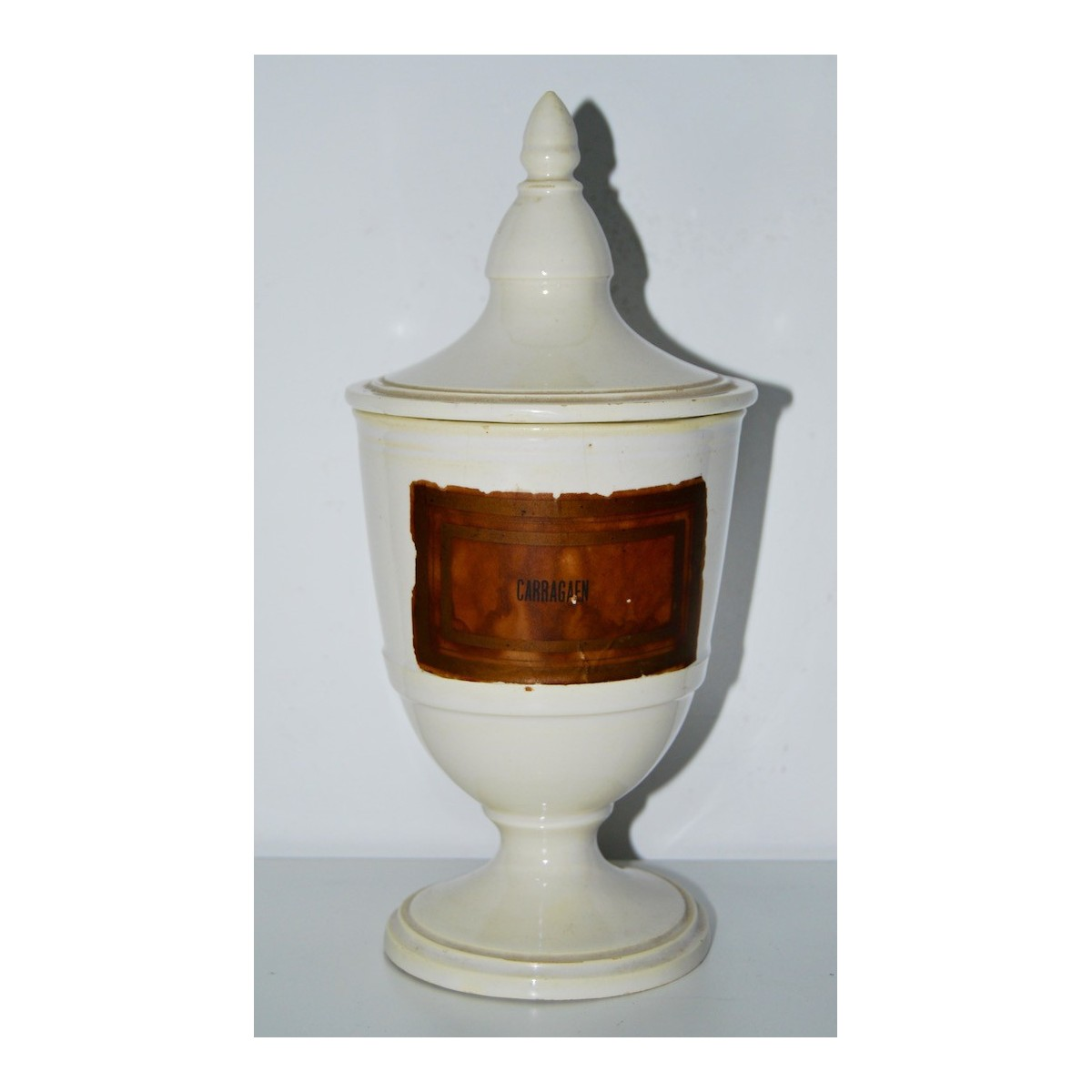 Ceramic pharmacy jar 19th