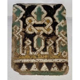 Piastrella Hispano-musulmana, fine del XIV sec.