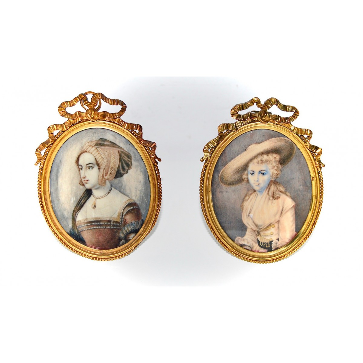Pair of miniatures of the 19th