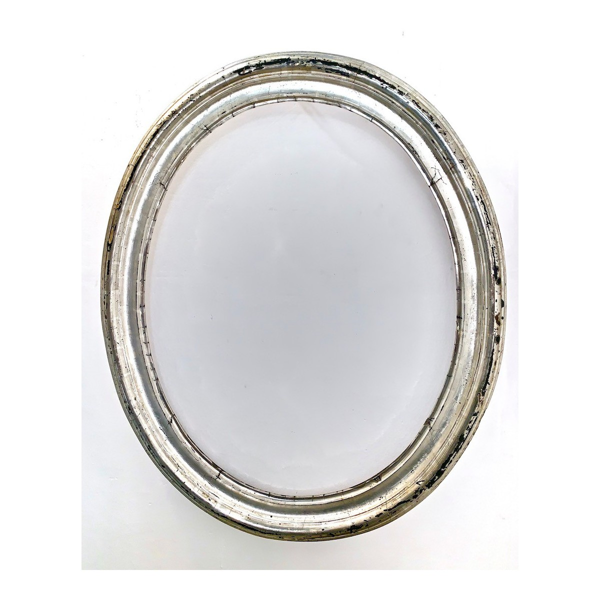 Oval silver frame 19th