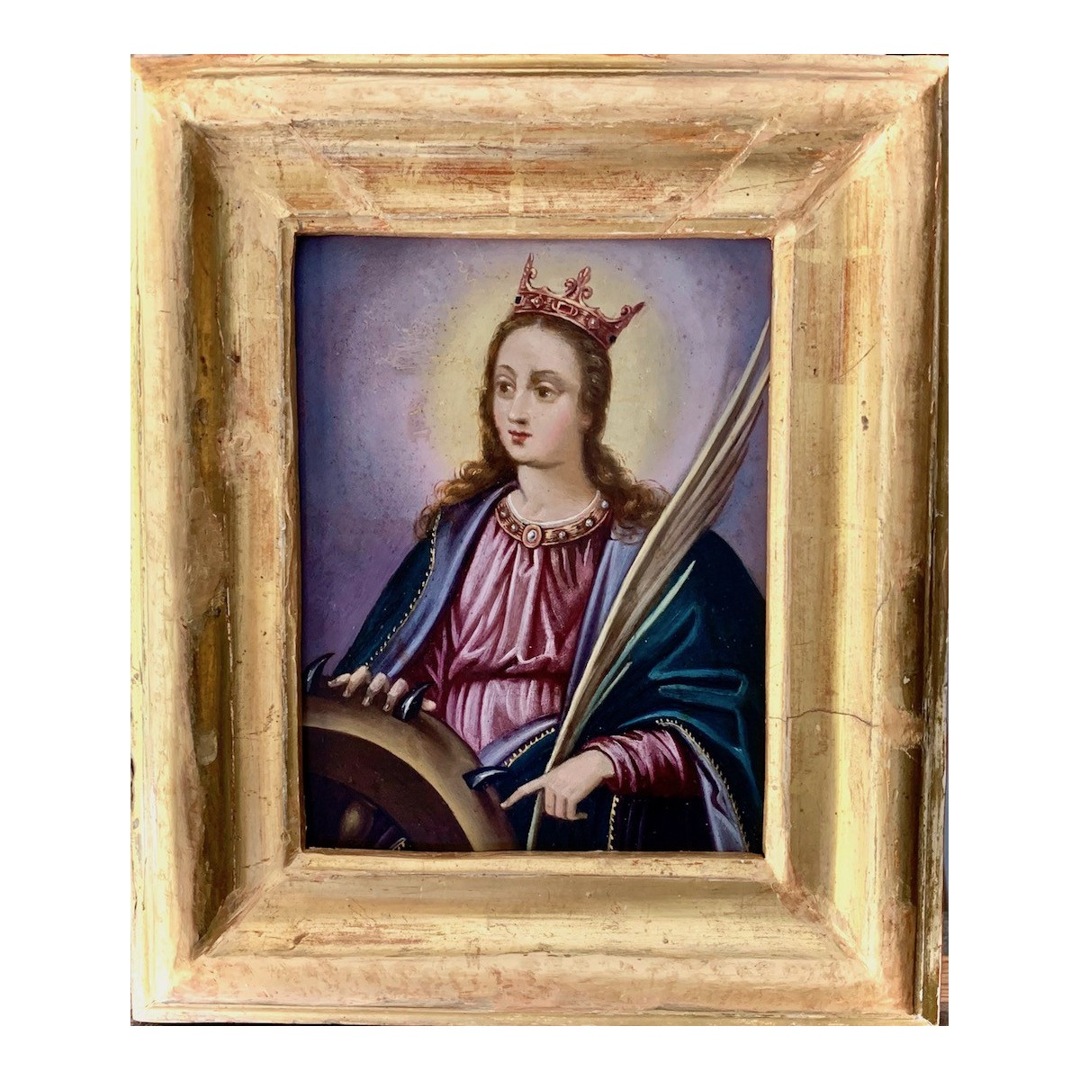 Pintura sobre cobre del siglo XVIII