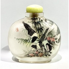Painted glass snuff bottle, China