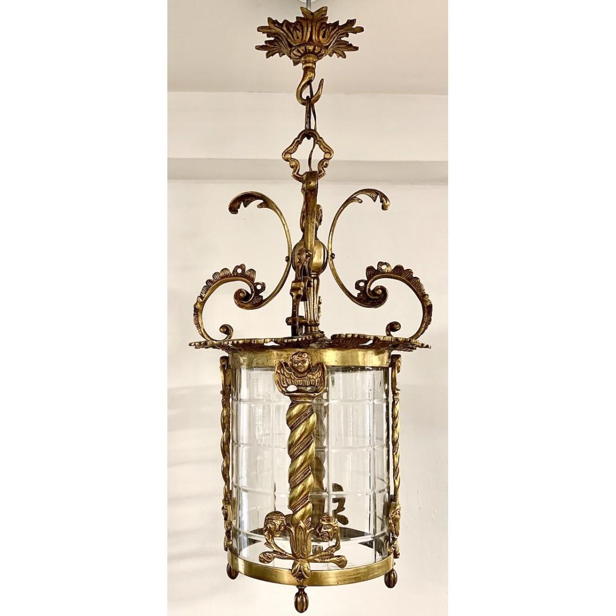 Cylindrical lantern ceiling lamp