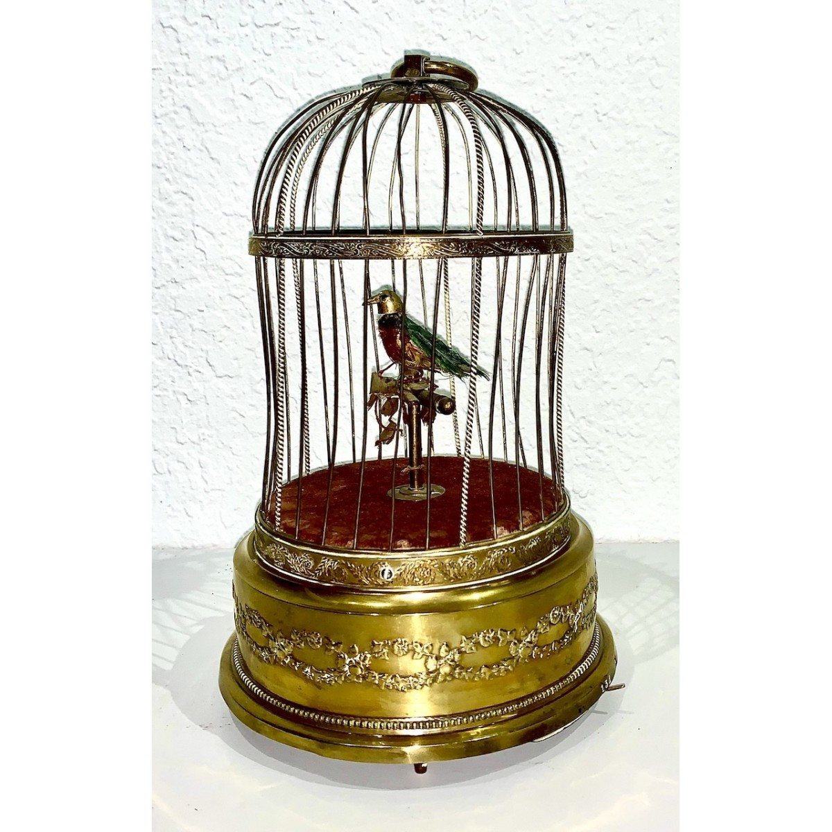 Antique bird cage automata