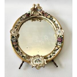 Specchio di porcellana Meissen dell'800