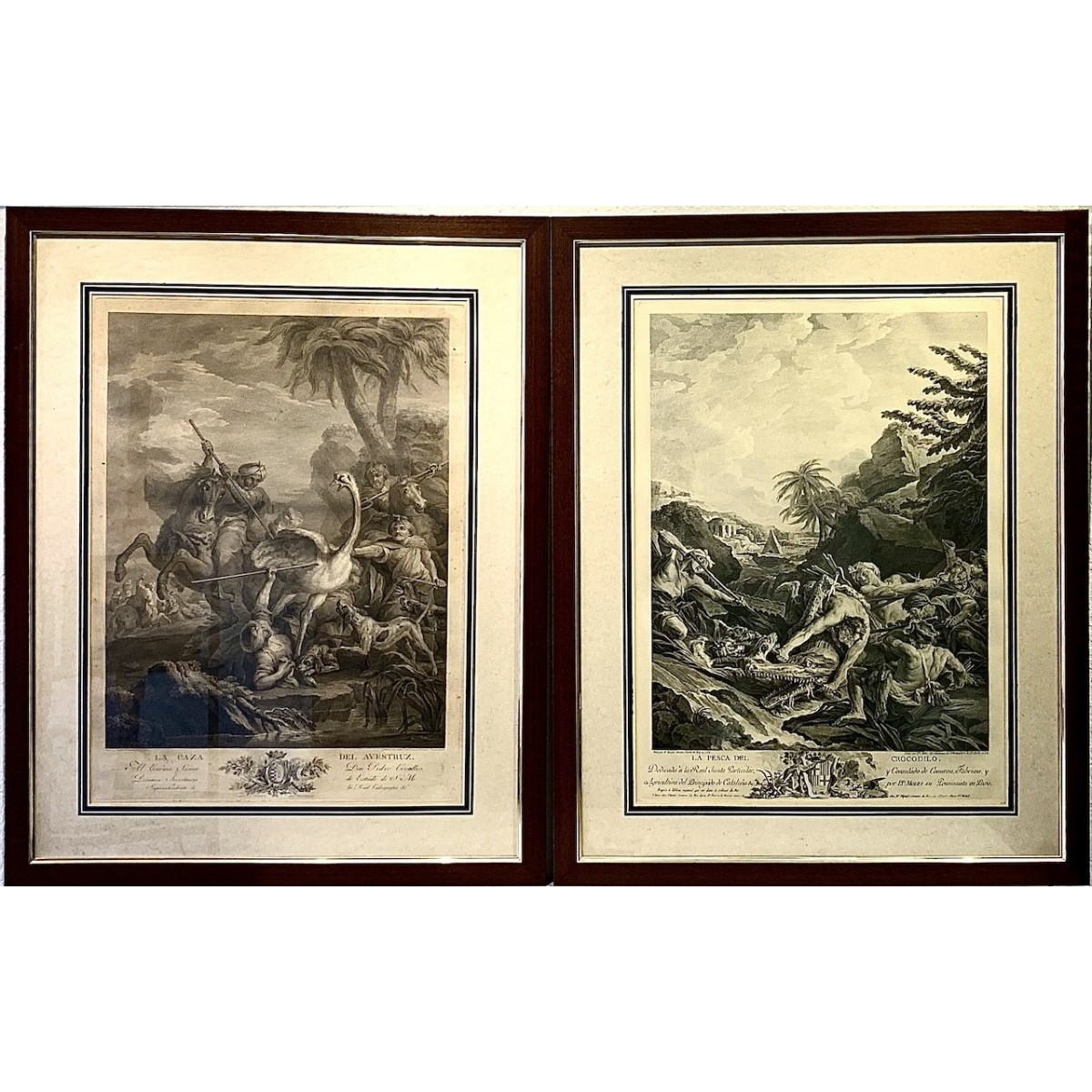 Pair of etching prints from 19th
