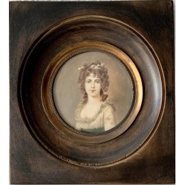 Portrait of a woman, miniature 19th