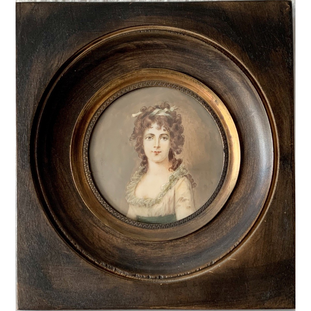 Ritratto di donna, miniatura dell'800
