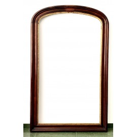 Large mahogany mirror 19th