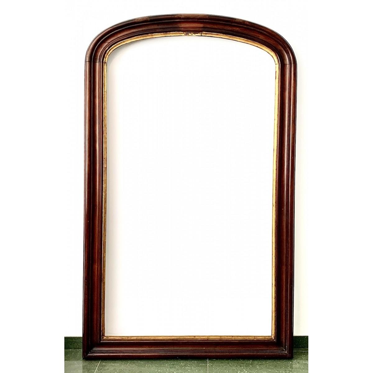Grande espejo de caoba del siglo XIX
