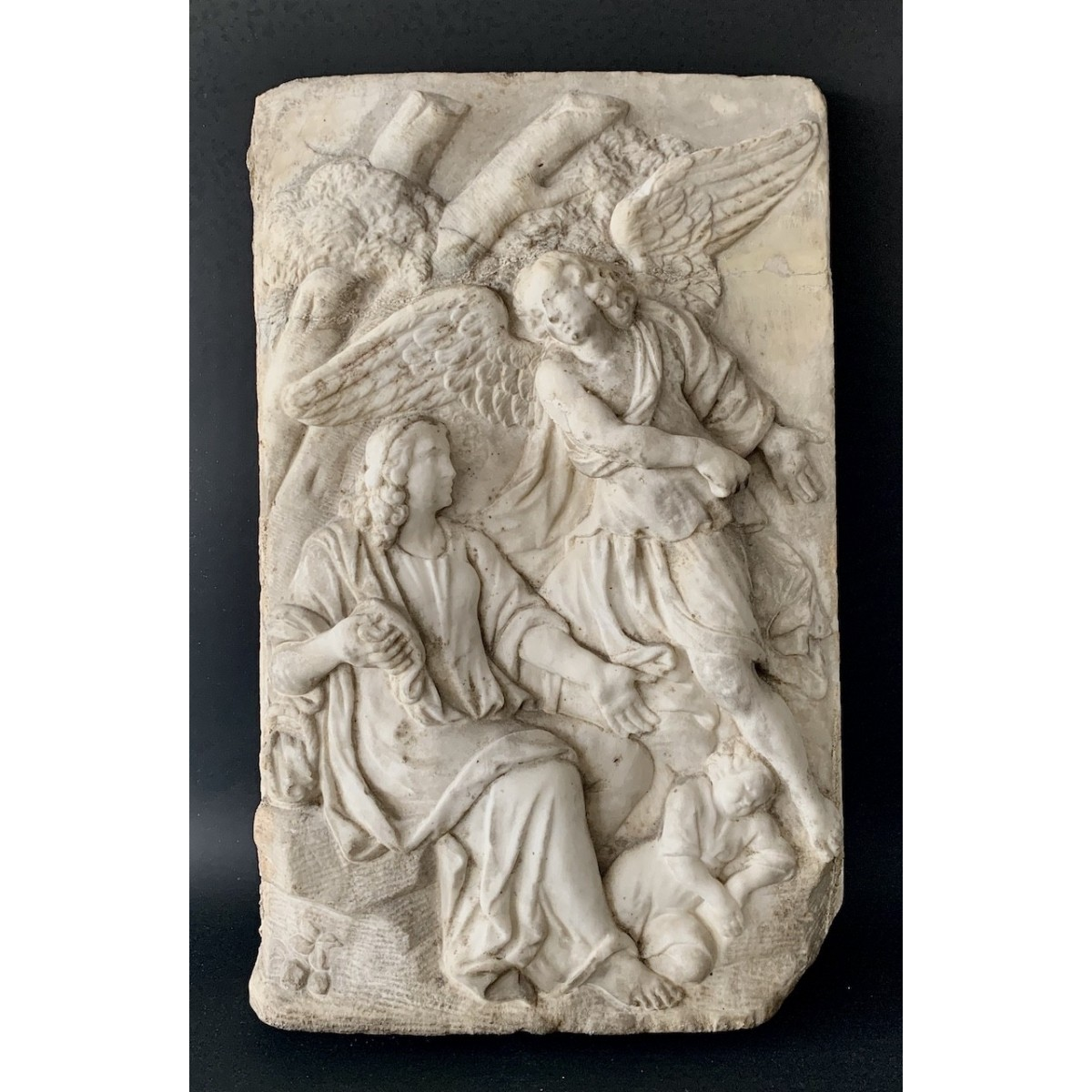 Bas-relief in white marble 17th