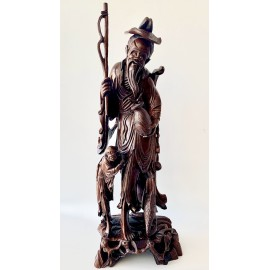 Large size Chinese carved wood sculpture