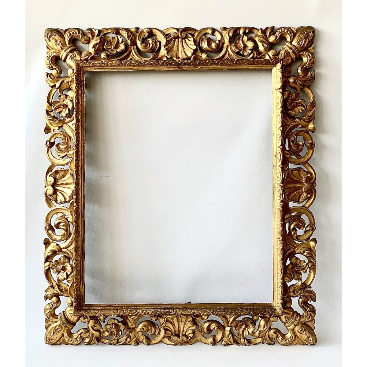 Carved and gilded frame of the mid-18th century