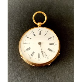 Pocket watch in 18K gold, 19th