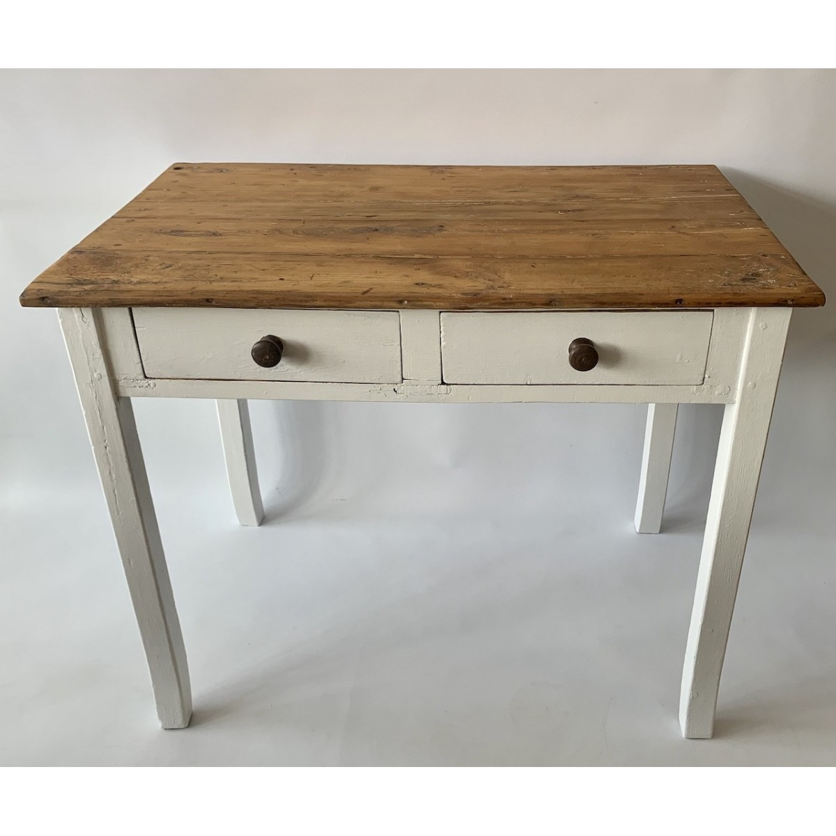 Rustic pine table, early 20th