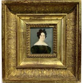 Miniatura, ritratto di donna del XIX secolo