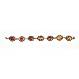 Sterling silver bracelet and amber gemstones