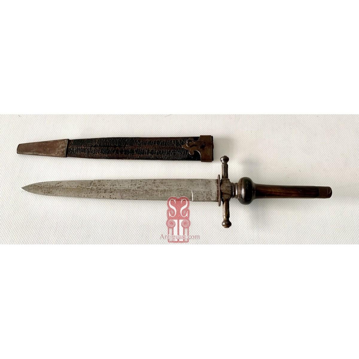 Bayoneta de taco del siglo XIX