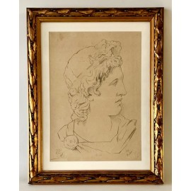 Apollo, academic drawing 19th