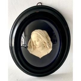 """""""Busto della Vergine"""" gesso, Etienne-Germain Ragoneau, metà dell'800"""