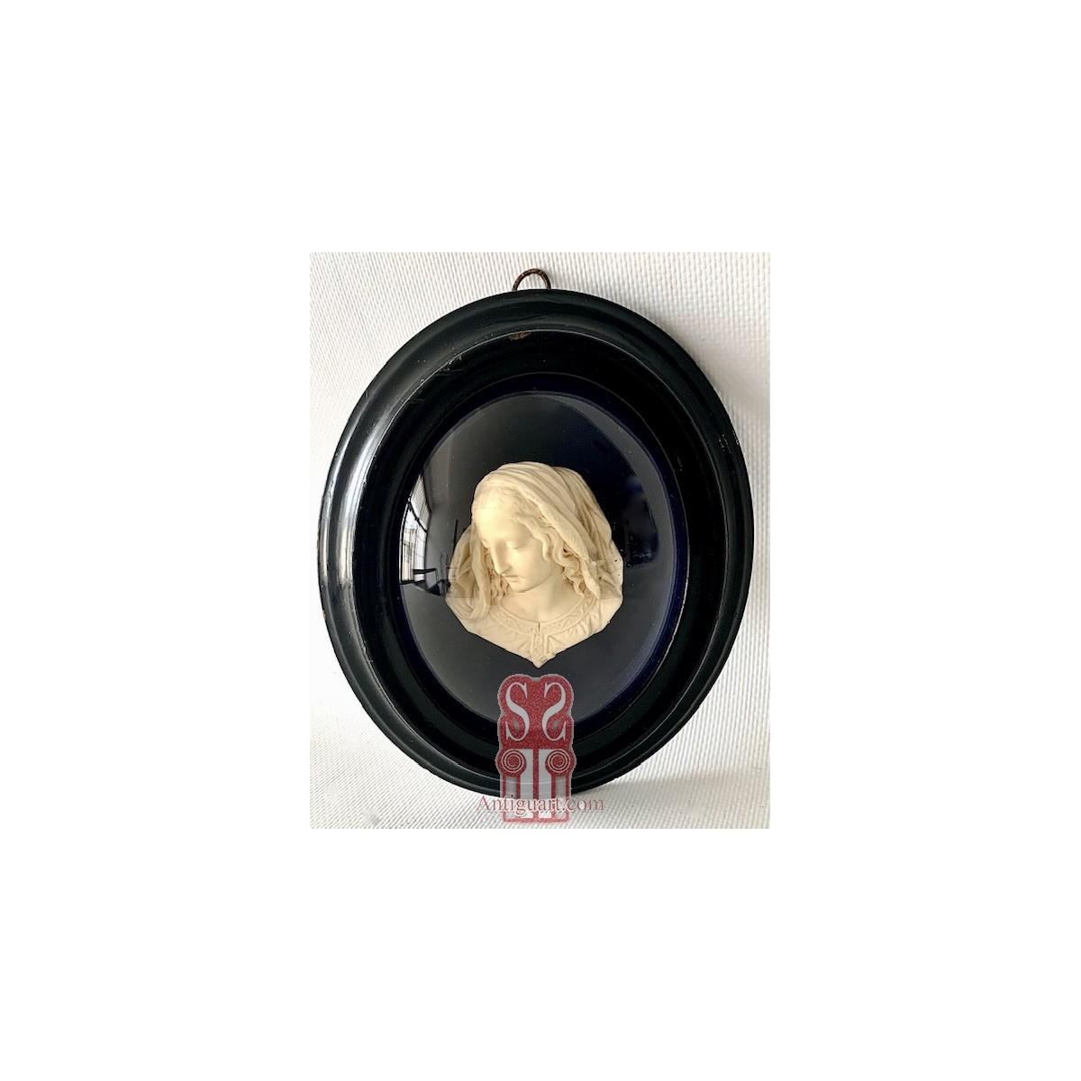 """""""Bust of the Virgin"""" plaster, Etienne-Germain Ragoneau, 19th"""